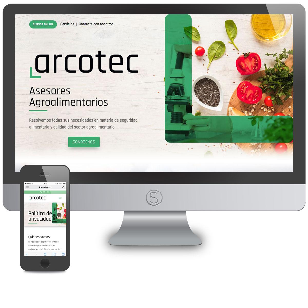 Diseño Web Arcotec por Estudio Situación Crítica