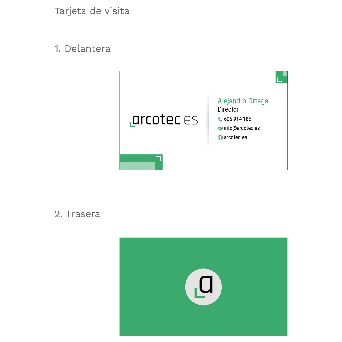 Tarjeta Arcotec