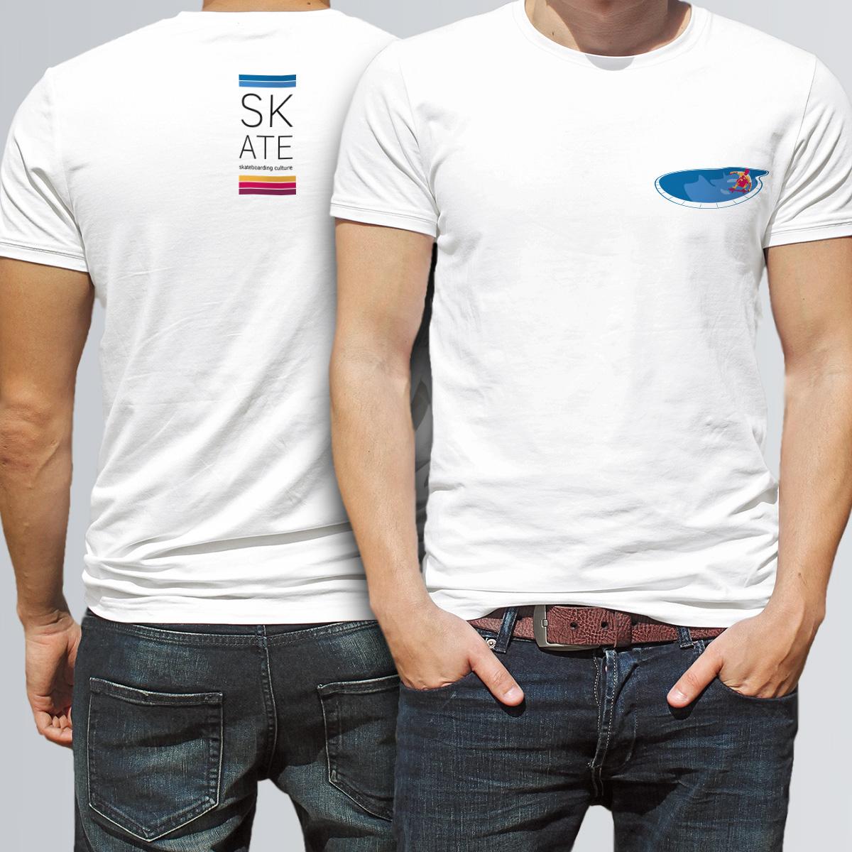 Camiseta promocional del libro SKATE