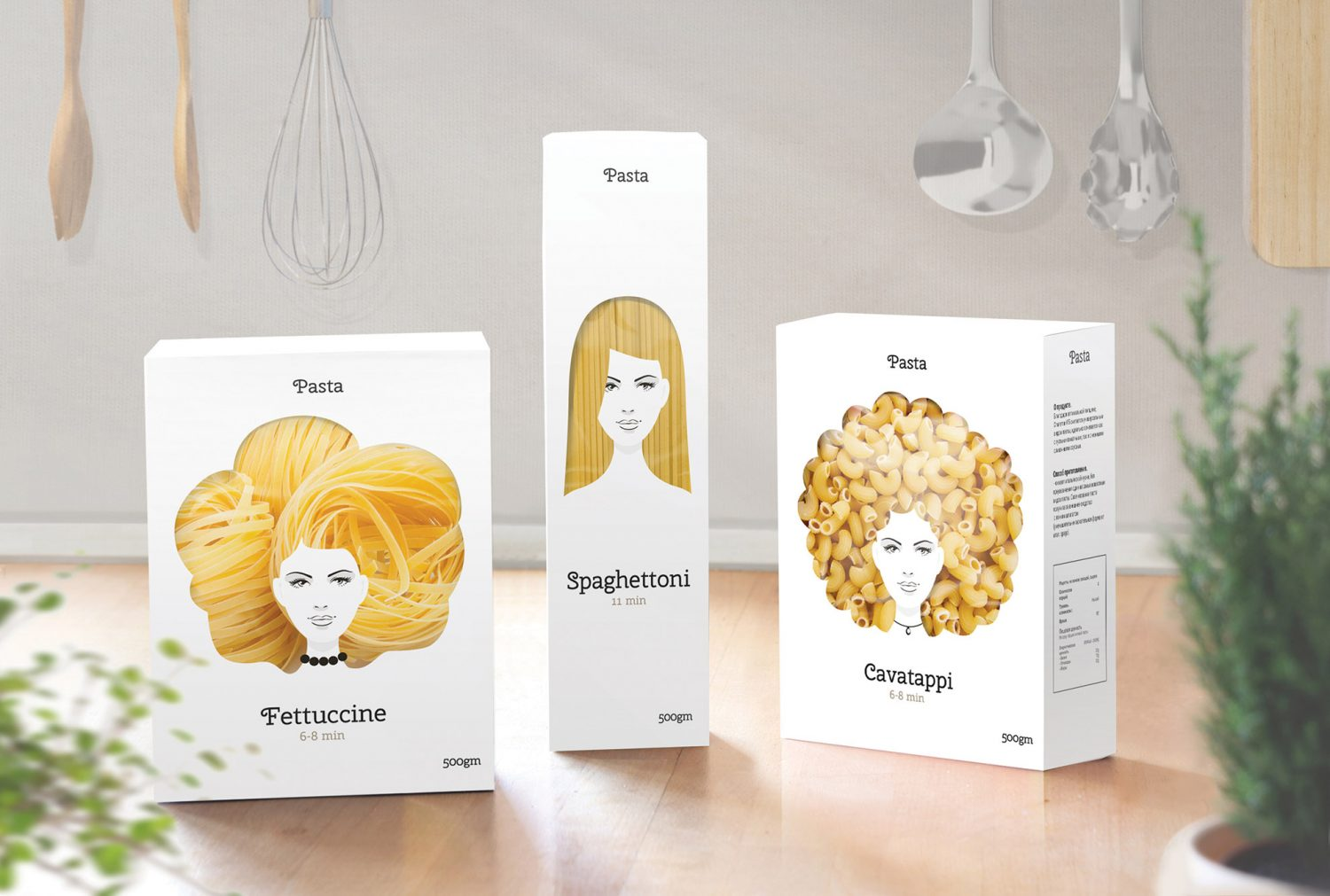Good Hair Day Pasta, un packaging que juega con tu buen humor